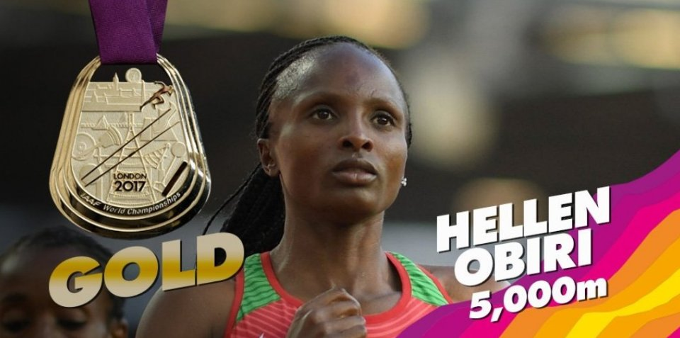 Kenya finishes in 2nd place #London2017  @hellen_obiri wins @IAAFWorldChamps 5000m!  watch LIVE news &amp; sports at  http:// africa.bolt.global  &nbsp;  <br>http://pic.twitter.com/Su5jFMZmPT
