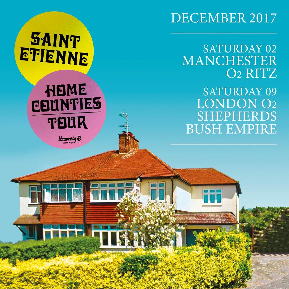 On sale now! #SaintEtienne (@bobpetesarah) have a show at #Manchester&#39;s @O2RitzManc in December! Tickets   http:// bit.ly/TLSaintEt  &nbsp;  <br>http://pic.twitter.com/hShOQFi4LJ