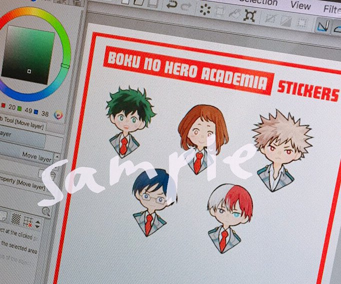 working on some #bnha merch!!  will print these as a sticker set (and maybe as acrylic charms or pins)  #comifuro #comifuro9 #cf9 <br>http://pic.twitter.com/wLajLXN8vc