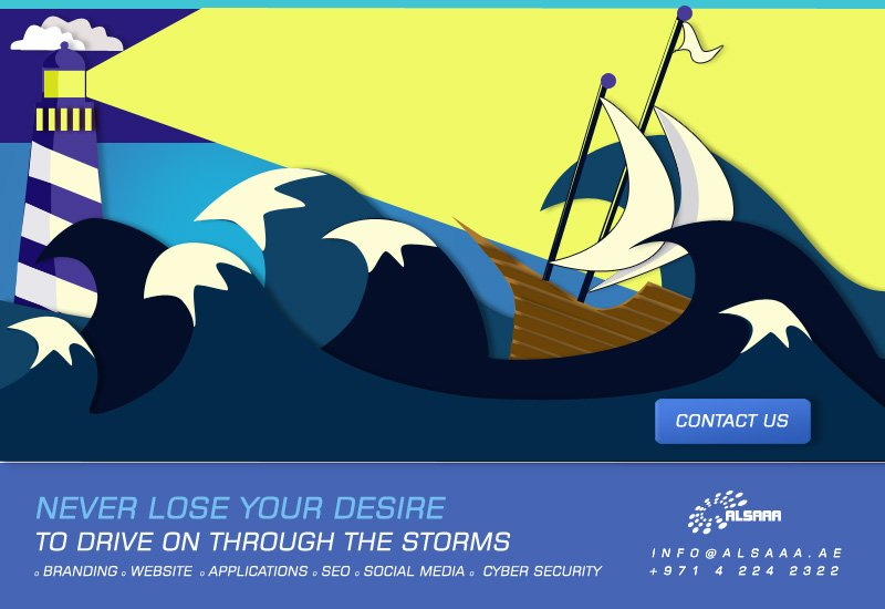 Look for us in the whirlwind or the storm. info@alsaaa.ae +97142242322  #branding #webdesign, #applications, #seo, #cybersecurity #ux<br>http://pic.twitter.com/9ajCfGBBsB