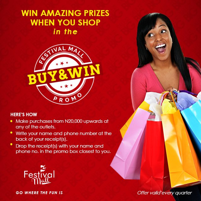 Get that #shopping going and see those rewards coming. You deserve it. #Happening from now till #September. #FestivalMall #Festac<br>http://pic.twitter.com/dCymDYuZnM