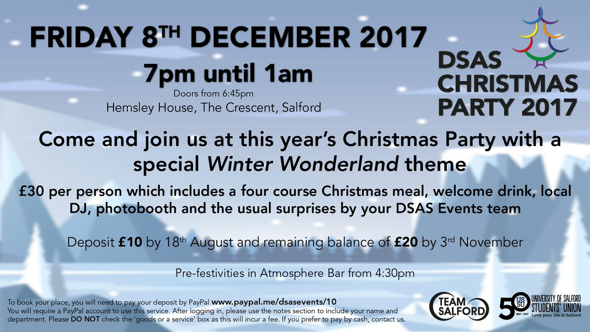 uos dsas events on twitter just a few places left to attend this years christmas party on 81217 more details below what will rimmsie be wearing this