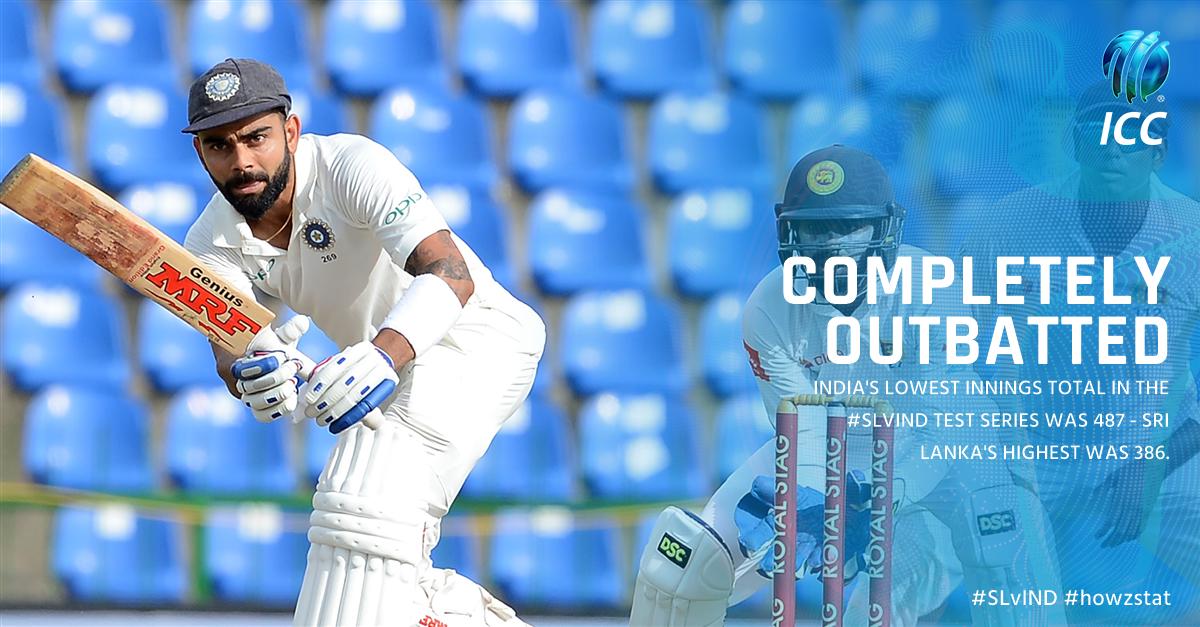 India's smallest innings total was 101 runs higher than Sri Lanka's bi...