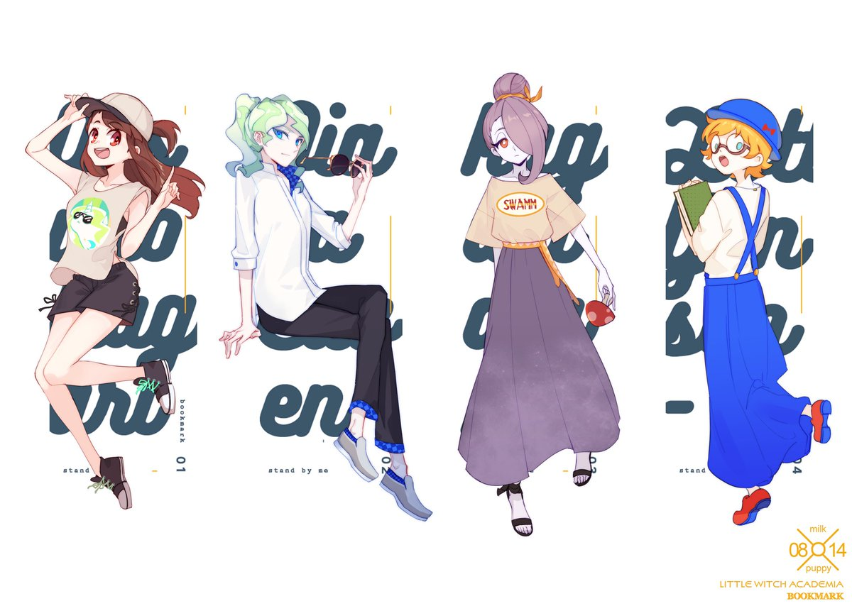 The bookmark of the LWA collaboration fanbook.😊Thanks to eve