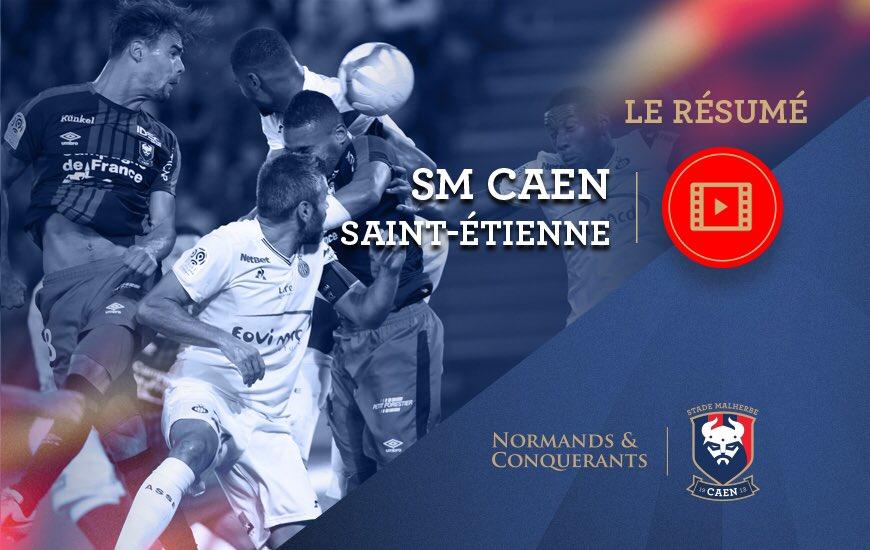 #SMCASSE, le résumé vidéo est en ligne!     http://www. smcaen.fr/2017-2018/actu alites/groupe-pro/caen-saint-etienne-0-1-le-resume-video  …    #SMCaen #TeamSMC #Ligue1Conforamapic.twitter.com/hFtfomlYr1