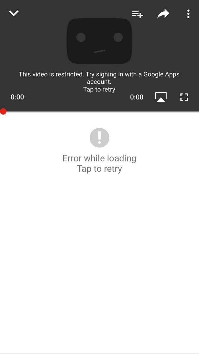 this video is restricted try signing in with a google apps account