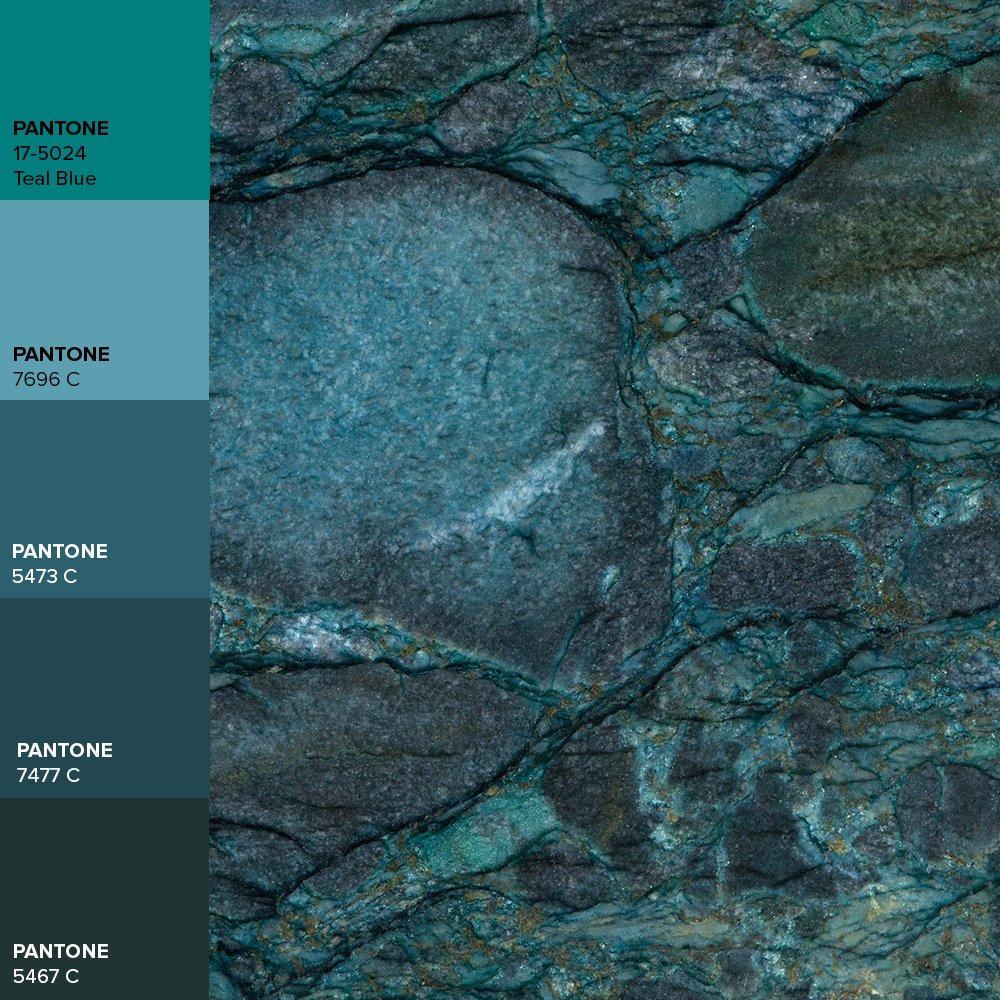 "Brasigran Granitos on Twitter: ""Discover Brasigran's colors! #coloroftheday @pantone Teal Blue !!!… """