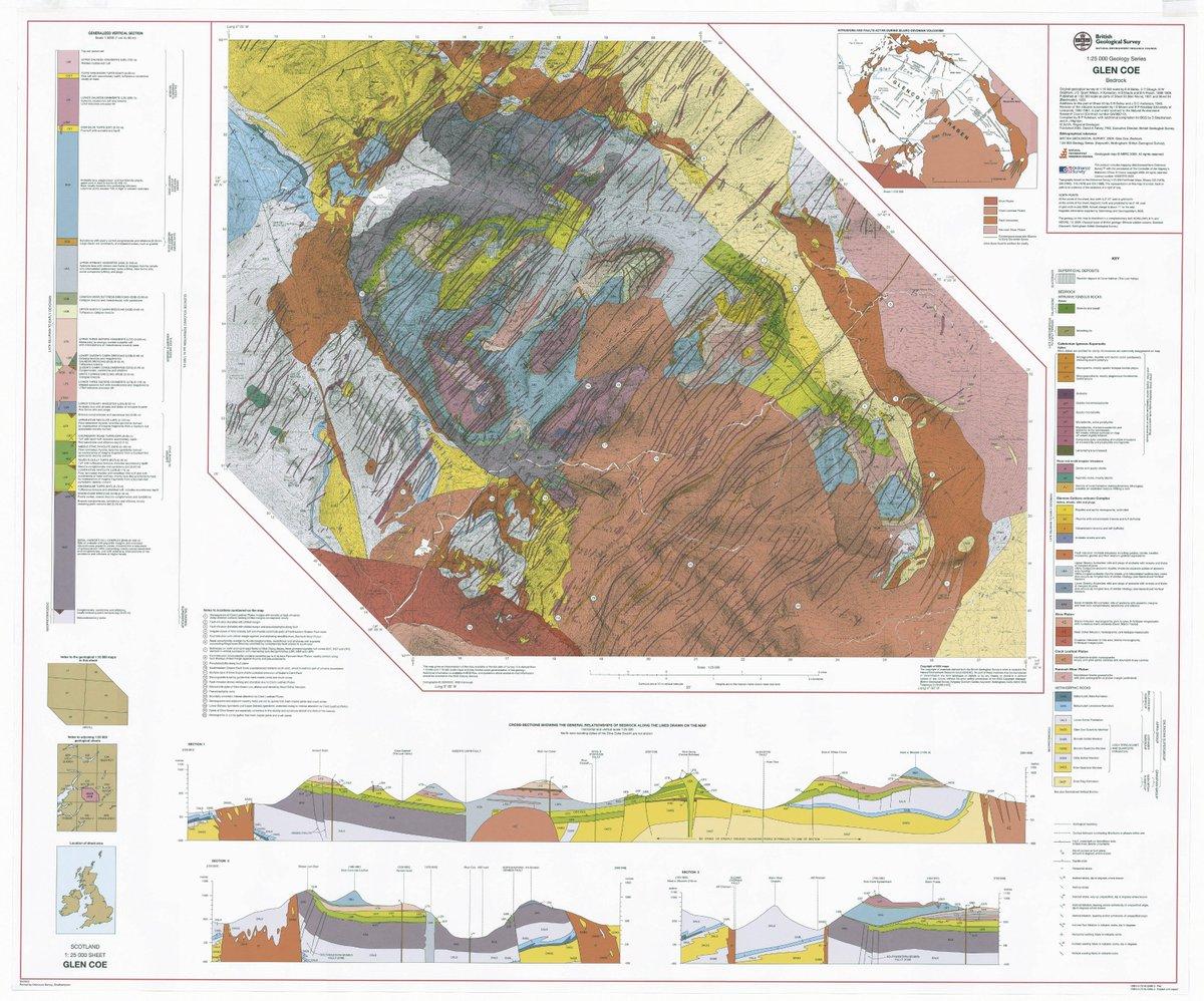BGS K Map Of The Glencoe Scotland Caldera Volcano Geology - Calderas in the us map