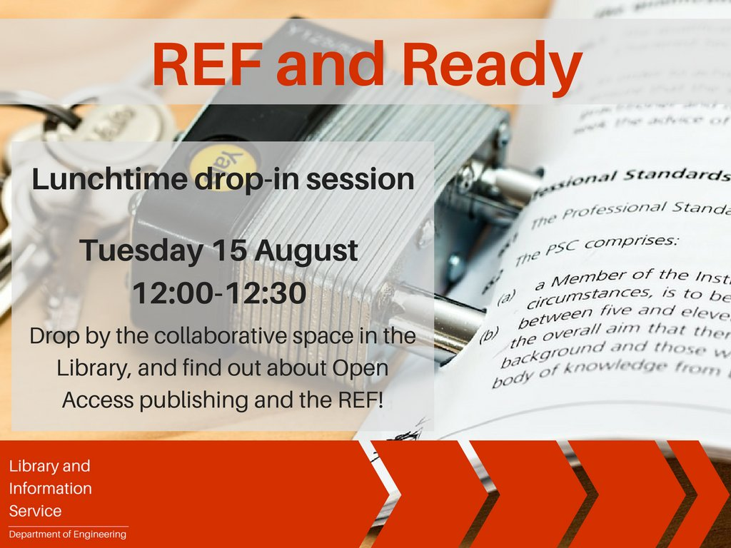 Are you #REF2021 ready? Drop in to the Library 12:00 tomorrow to learn about #OpenAccess,  funder requirements, REF eligibility &amp; more!<br>http://pic.twitter.com/o8zIhzj8w9