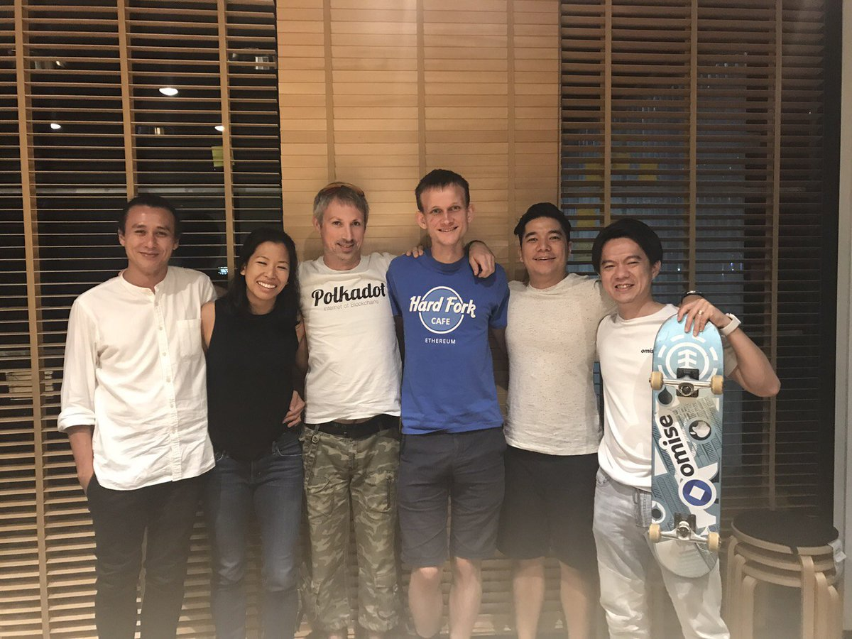 OmiseGO proud to support original Ethereum builders @VitalikButerin @gavofyork going fwd into future. We stand together! News coming soon :)