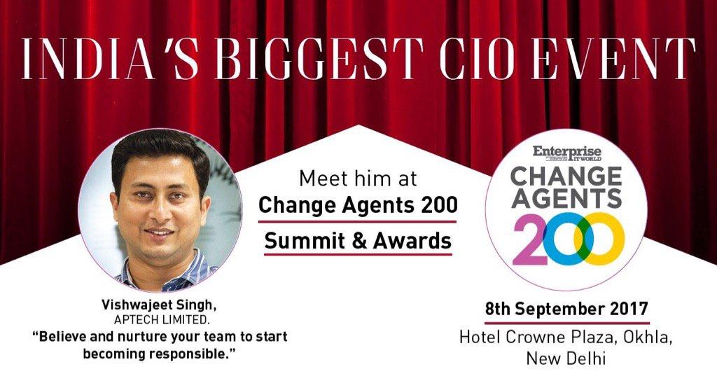 Get to know the #CIO #Sucess Mantra. Meet Vishwajeet Singh, Tech Visionary at #EnterpriseITworld #CIO200 @aptechltd.<br>http://pic.twitter.com/WzaEbaphF7