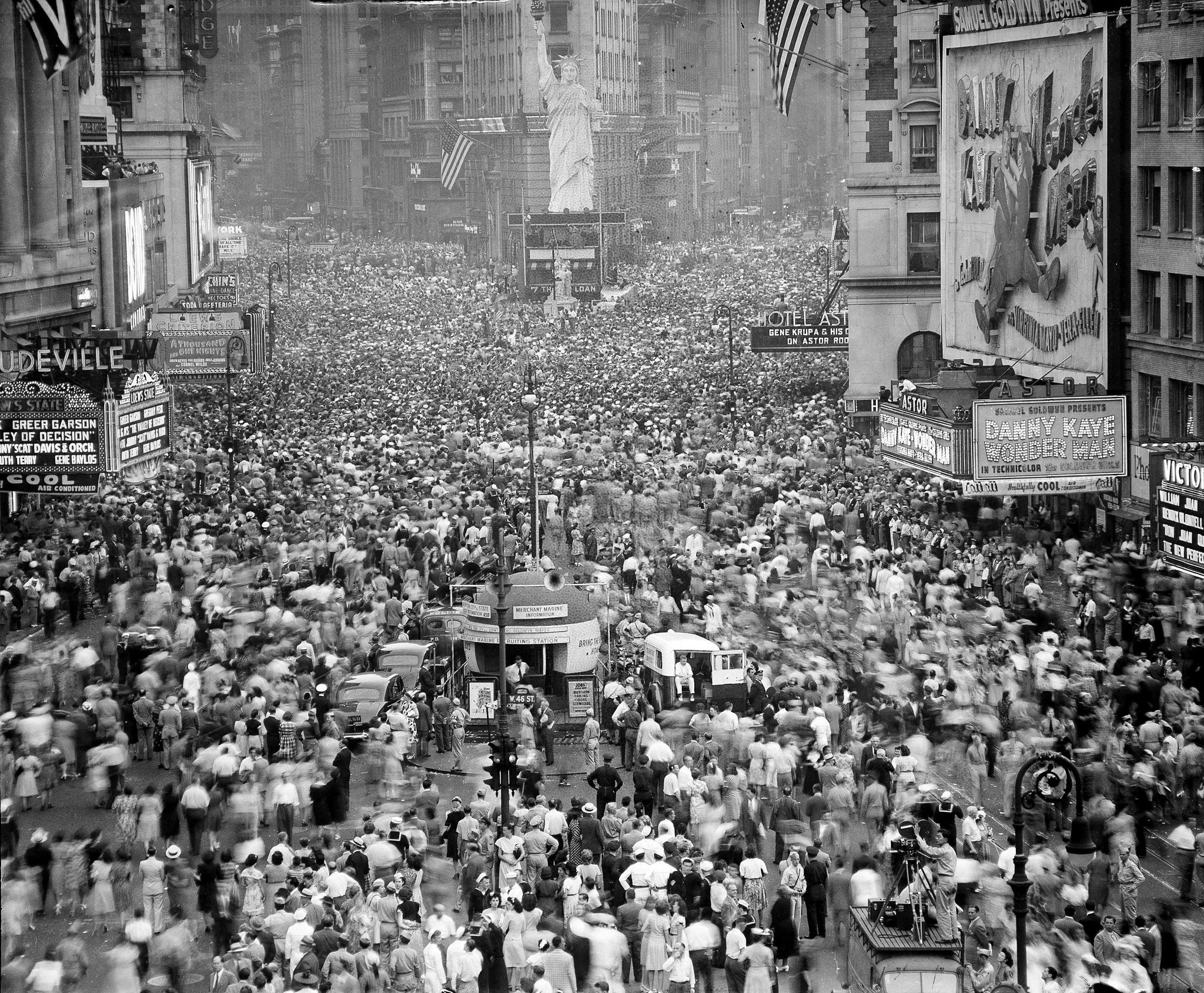 "NBC Nightly News on Twitter: ""Today in 1945, celebrations erupted across the US as Pres. Truman announced Japan's unconditional surrender in WWII."