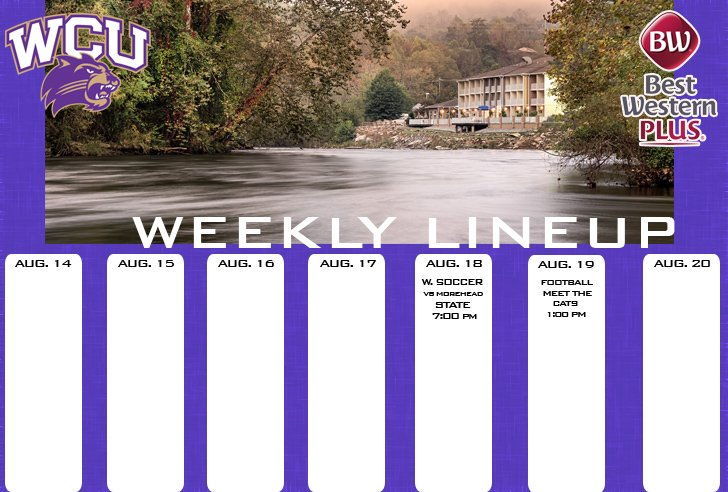 WCU Athletics Weekly Lineup
