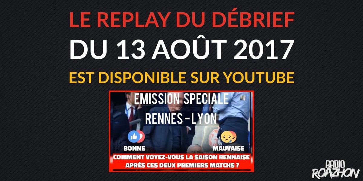 """[#REPLAY] (Re)vivez sur notre chaine YouTube l'émission """"Le Débrief"""" du 13 août 2017 à propos de #SRFCOL.  Lien :  http:// youtube.com/watch?v=DmcBy4 xl4Qw&t=43s  … pic.twitter.com/vBxiEW1liO"""
