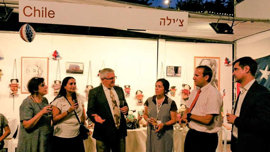 Officially opening #lauraRamos dolls&#39;  exhibition #Chile booth #HutzotHayotzer #artist_colony #Jerusalem<br>http://pic.twitter.com/cQcusilSIC