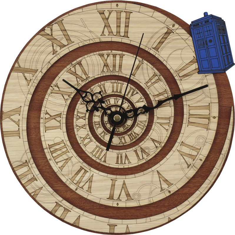 Handmade #TimeVortex clock in wood #DoctorWho ChristopherEccleston #GiftsIdeas #ticktock  -  https://www. etsy.com/listing/255080 981/time-vortex-wood-clock-inpired-by-doctor?ref=shop_home_active_1 &nbsp; … <br>http://pic.twitter.com/JJ1UYosPg6