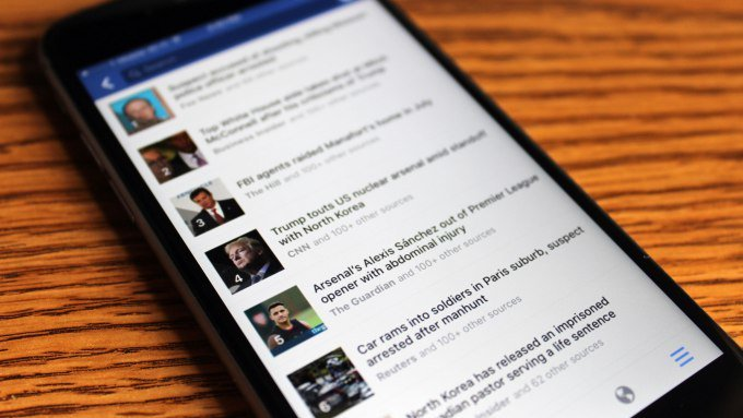 Facebook is rolling out a Trending News section on mobile, now with its own link #tech via Sarah Perez  http:// ift.tt/2vCidJn  &nbsp;   #BigData #M… <br>http://pic.twitter.com/R7Q6iXtljW