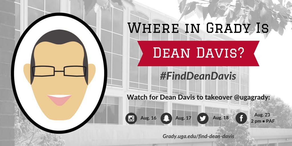 Welcome back,#GradyStudents!  Watch for @GradyDeanUGA to take over our main social accounts this week.#FindDeanDavis https://t.co/boRLlcsLj2 https://t.co/ypqHCaxpo9