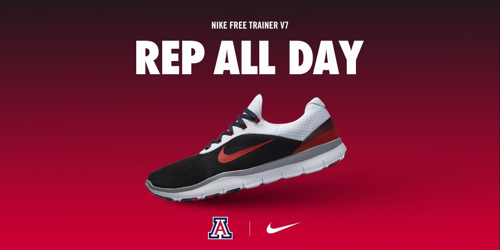 Released today 8/14/17. Arizona Wildcat Nike Free Trainer V7's Are Finally  Out Today $110. Now you can Rep Arizona with the latest kicks.