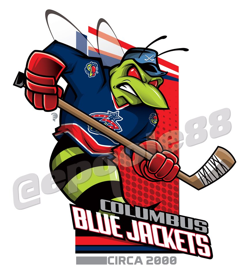 Daily #retro #hockey features the @BlueJacketsNHL in their original jersey #bluejackets #cbj #columbus #nhl<br>http://pic.twitter.com/faL2IkxYqP