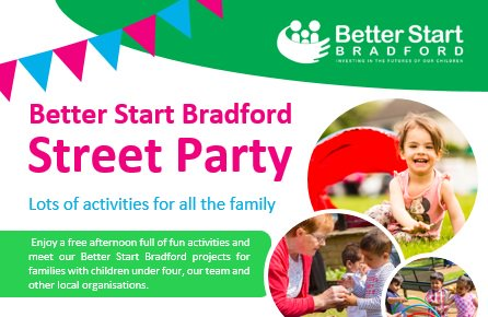 Only one week until our first summer street party in #Bradford 4, fun for families with children under four  http:// ow.ly/EY2K30eoyTD  &nbsp;  <br>http://pic.twitter.com/yJO5PFjGWT