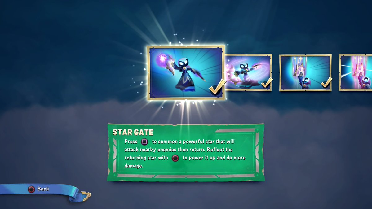 An explanation of Star Strike's starting abilities, including her projectile reflecting mechanic
