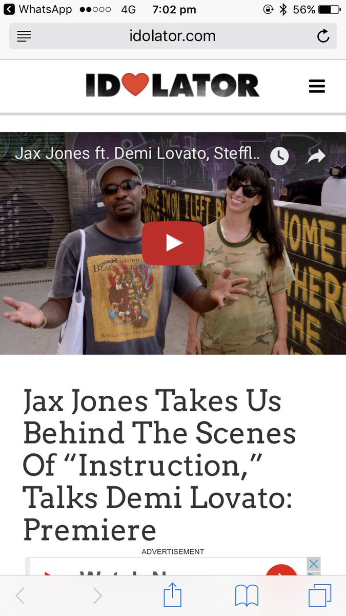Watch the BTS for #INSTRUCTION nowww on @Idolator!!! @ddlovato @stefflondon  http://www. idolator.com/7667478/jax-jo nes-instruction-interview-demi-lovato &nbsp; … <br>http://pic.twitter.com/Mnm3bVAeOO