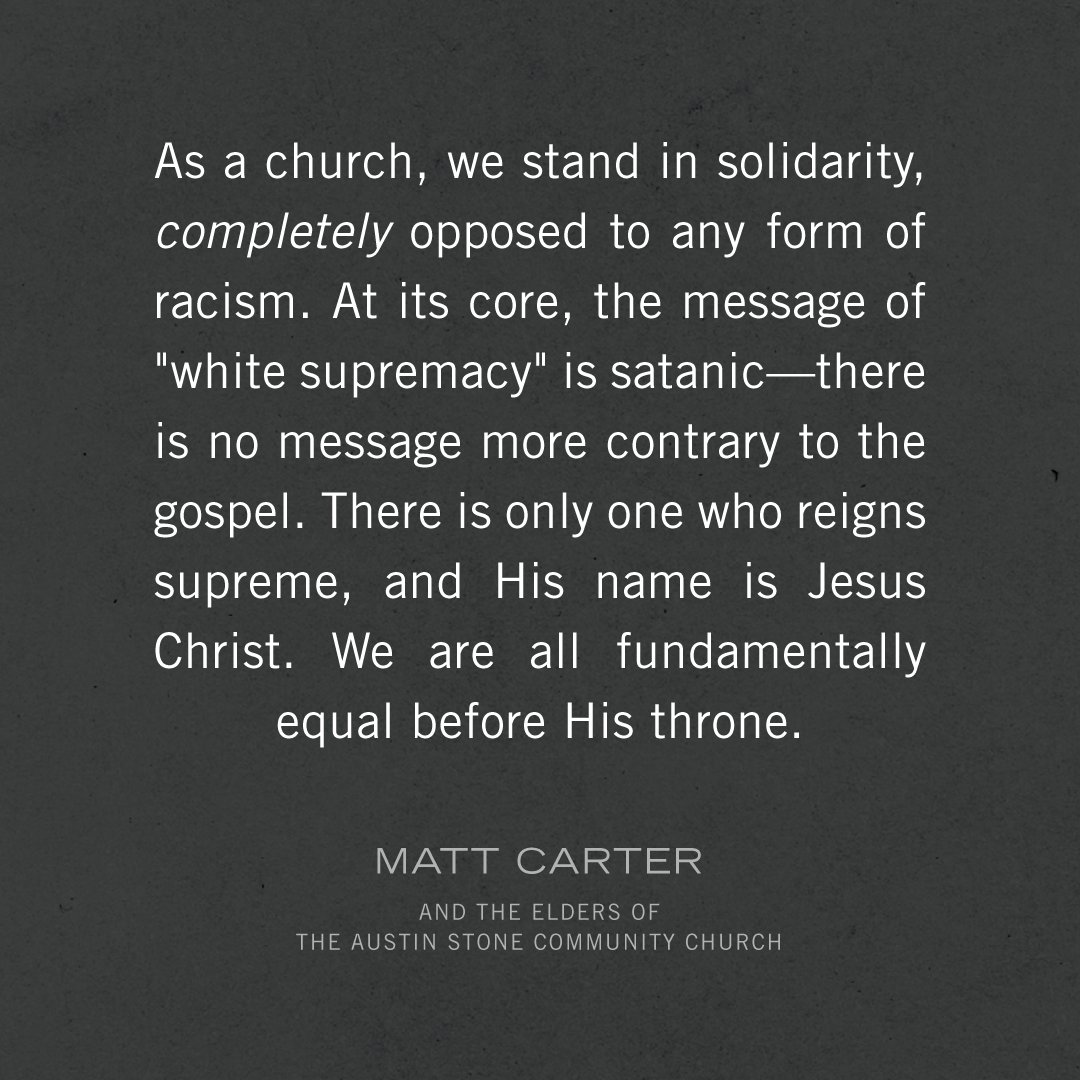 A message from @_Matt_Carter and the elders of The Austin Stone Community Church. https://t.co/PPzyz8fFTd