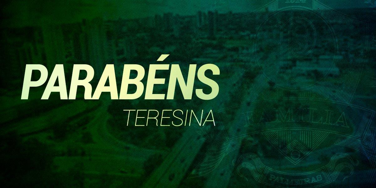 Hoje é aniversário da capital do Piauí! Parabéns, #FamíliaPalmeiras de Teresina! 🎂🎉 #Teresina165Anos