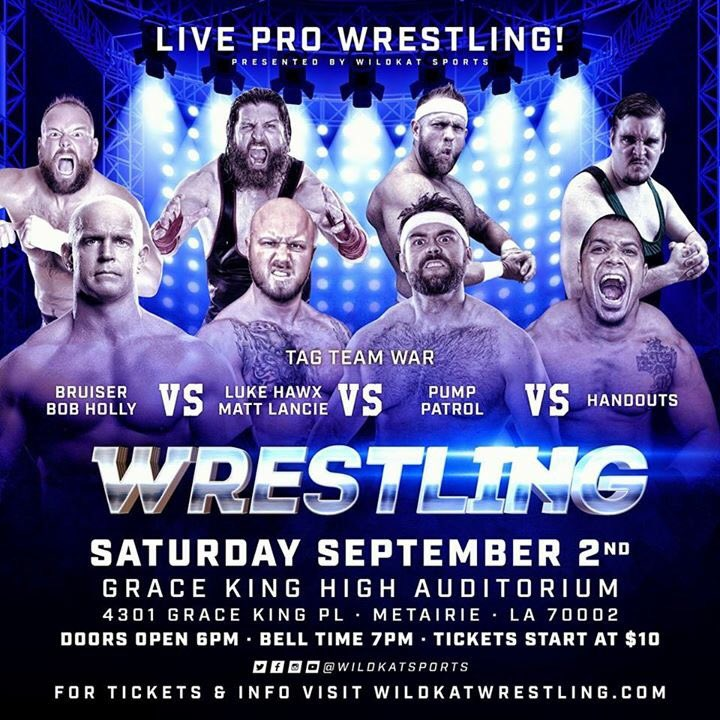 BREAKING!  On 9/2 in #NewOrleans see the 6-time #MCW Champion #TheBruiser team up w/former #RAW Star @TheBobHolly!   http:// WildkatWrestling.com  &nbsp;  <br>http://pic.twitter.com/7sliTF4T43