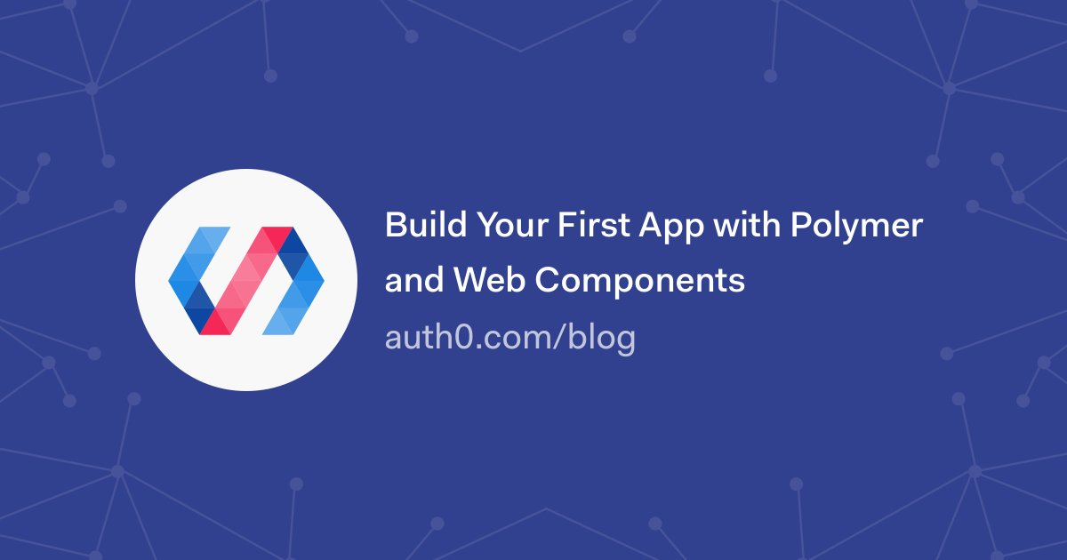Learn how to build and authenticate a modern single page app with @polymer and #WebComponents     https:// auth0.com/blog/build-you r-first-app-with-polymer-and-web-components/?utm_source=twitter&amp;utm_medium=sc&amp;utm_campaign=polymer_app &nbsp; …  #polymer <br>http://pic.twitter.com/m6l6OwYBTP