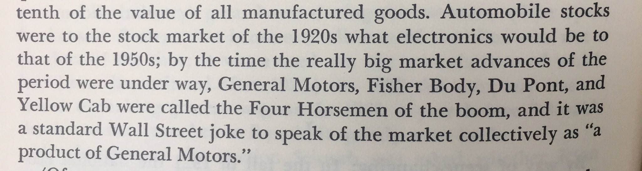 Sounds familiar. The FANG stocks of the Roaring 1920s were called the 4 Horsemen https://t.co/0rKuH6s3lo