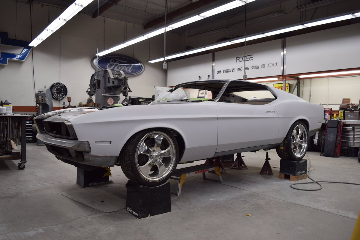 Paint prep almost complete, #machfoose getting ready for its @SEMASHOW debut. We exclusively use @RefinishNews #glasurit products