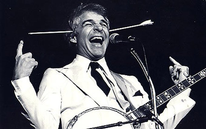 Happy Birthday Steve Martin! Let\s look at 5 of our favourite \wild & crazy guy\ moments >