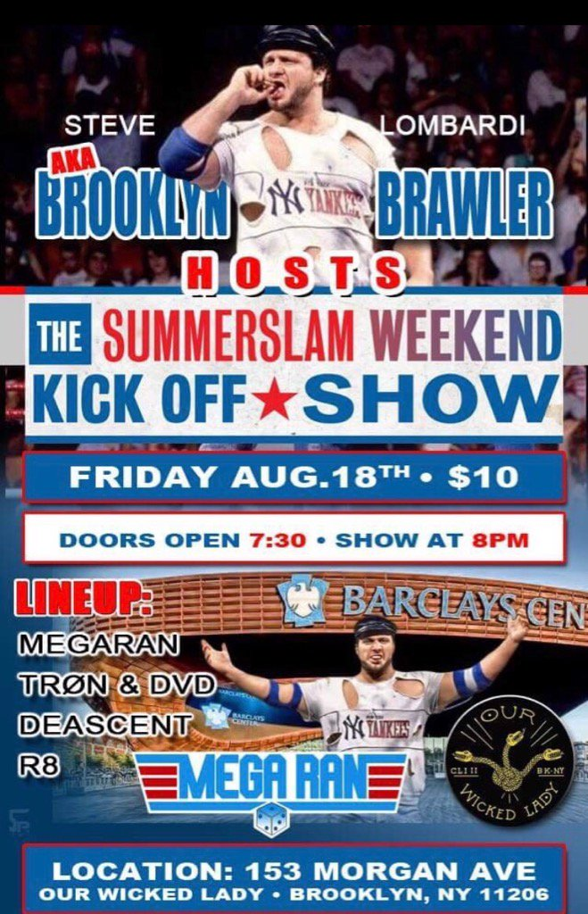 This is a night nobody should MISS!! #SummerSlam #WWE @MegaRan @RobAurelius #Brooklyn #BZBFAM #Respect<br>http://pic.twitter.com/kIoLSV6oKa