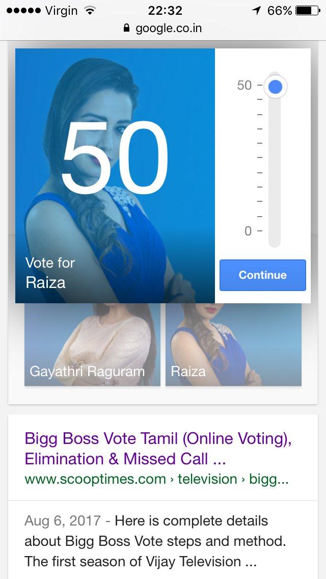 Bigg Boss Tamil 3 Vote Scooptimes