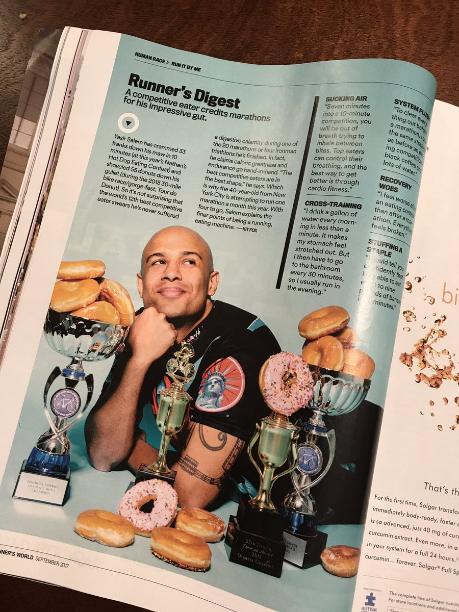 3d2d19f4699 Delivered to my mailbox today - Runner s World featuring  yasirsalem! Can t  beat the marathoning competitive eating combo!!  runnersworldpic.twitter.com   ...