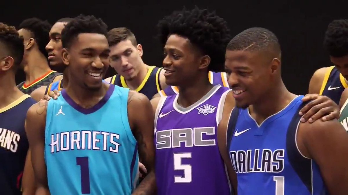 Go behind the scenes with this year's #NBARooks at the 2017 NBA Rookie Photo Shoot!