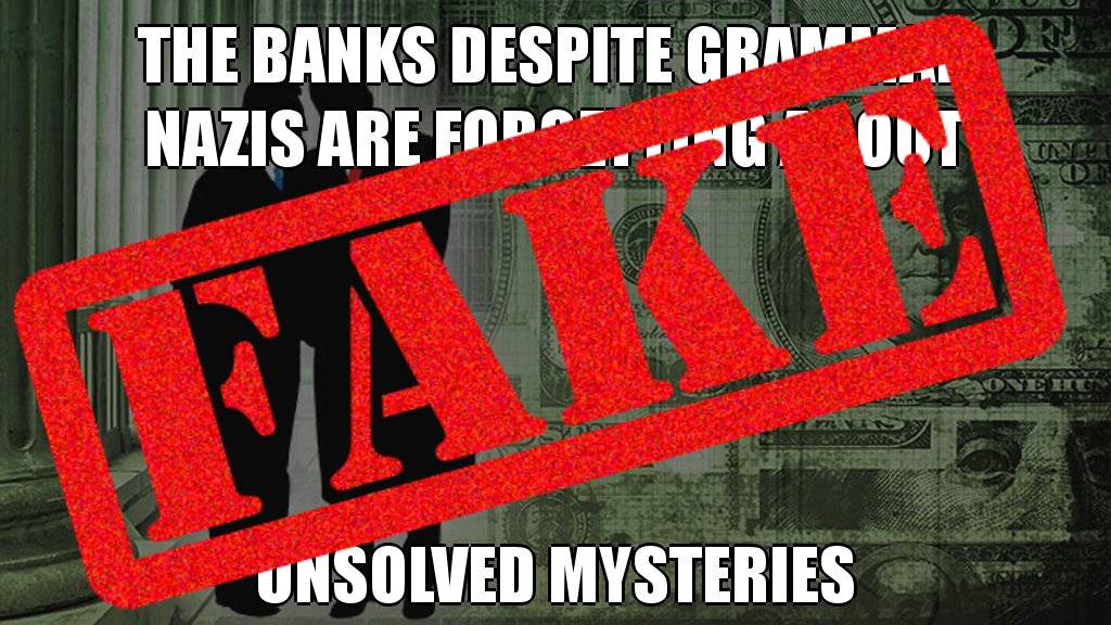 Misleading! The banks despite grammar nazis are NOT forgetting about unsolved mysteries #dumpsterfire #posttruth @twitter<br>http://pic.twitter.com/QiIOshHErA