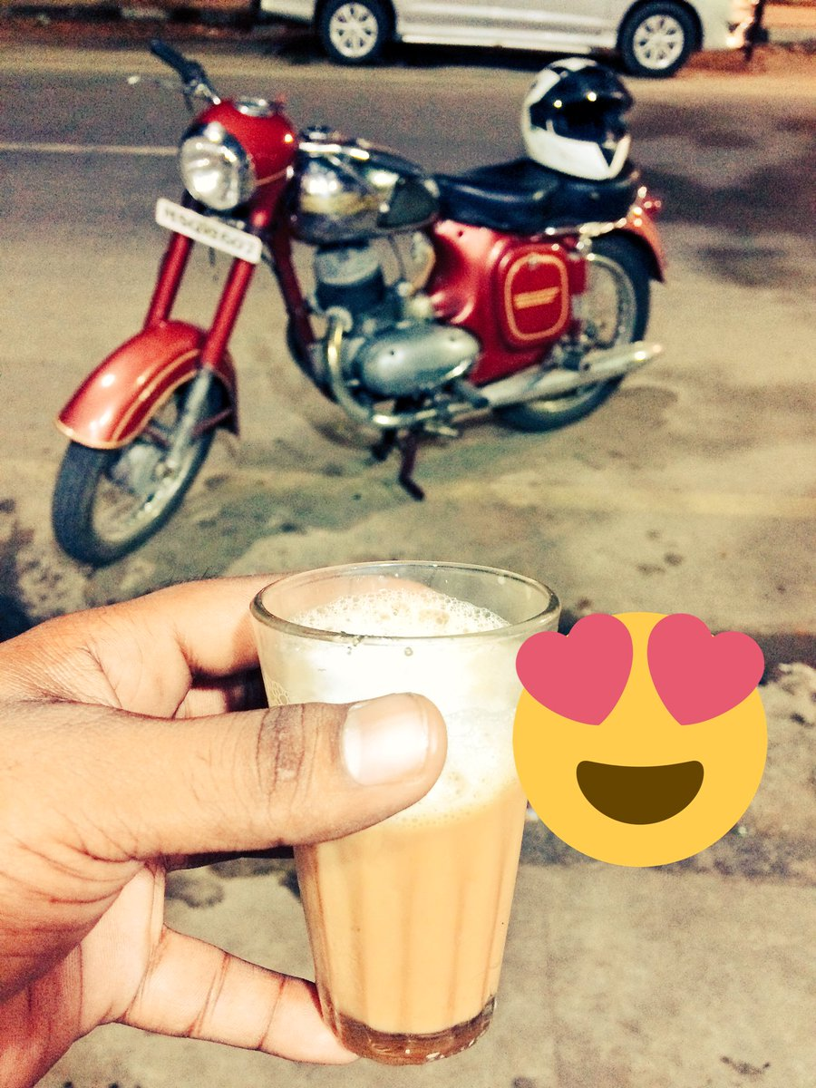 Two things that needs to be prioritised first in the morning #Yezdi #Jawa #RoaringRiders<br>http://pic.twitter.com/jbXuwoJRJq