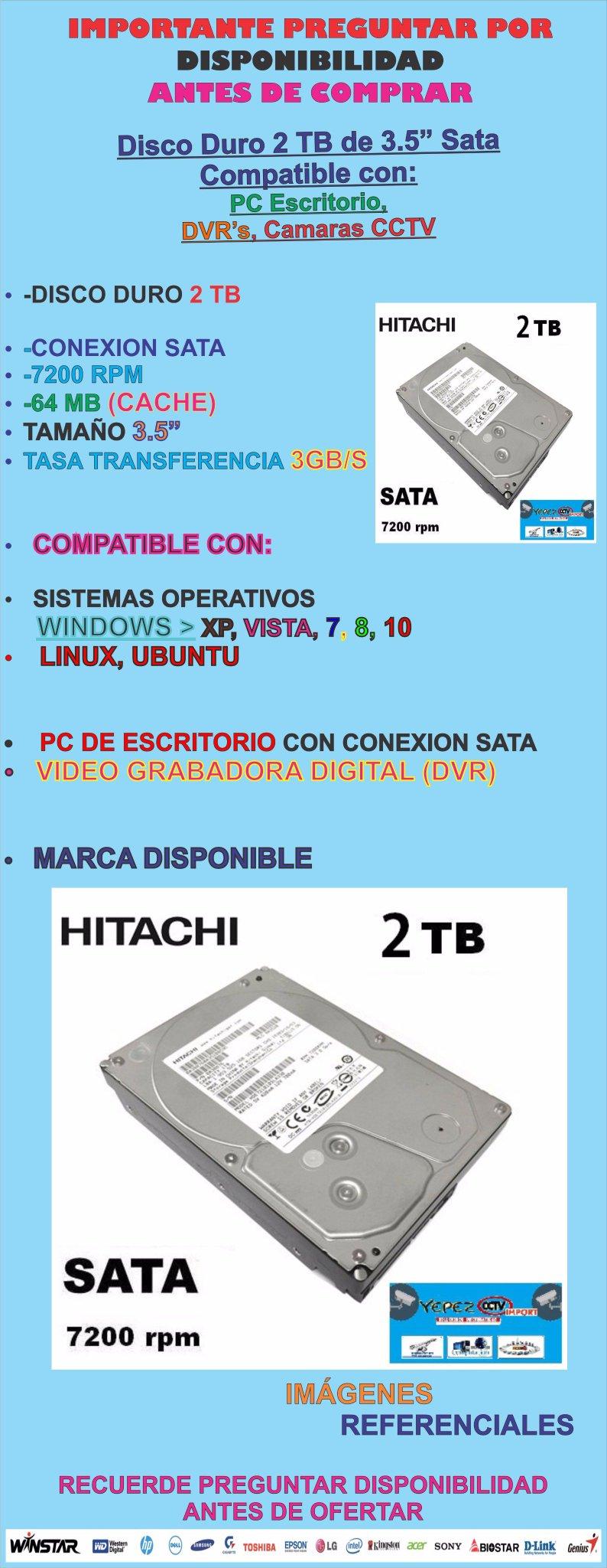 DISCO 2TB PC