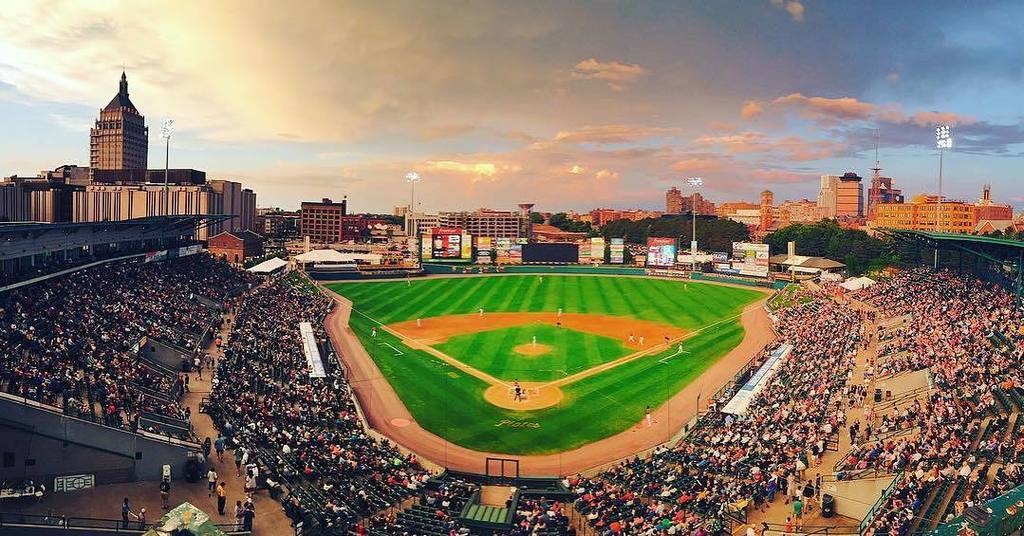 Baseball from above  Photo by @ROCRedWings. #ThisIsROC #ROC #Rochester #ILoveNY #ExploreRochester<br>http://pic.twitter.com/1Fbd3zhrhN