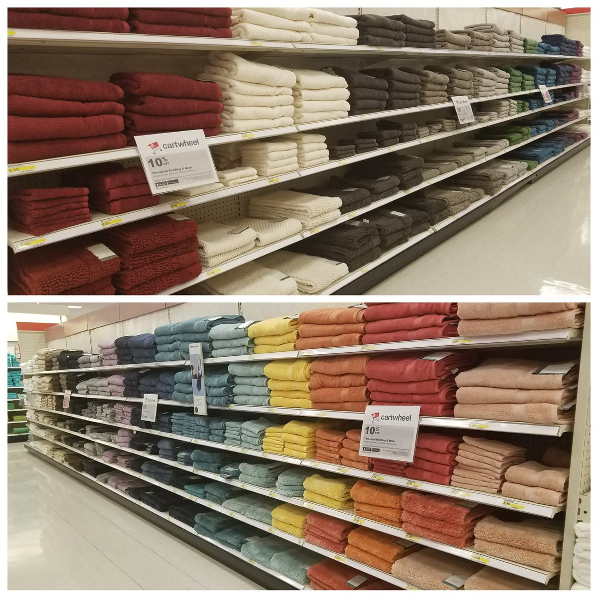 Shining bright &amp; shouting cartwheel deals in our Threshold bath, bedding &amp; decor just in time for BTC week! #T2320ModelStore #D303 #G392<br>http://pic.twitter.com/sklBjGumSU