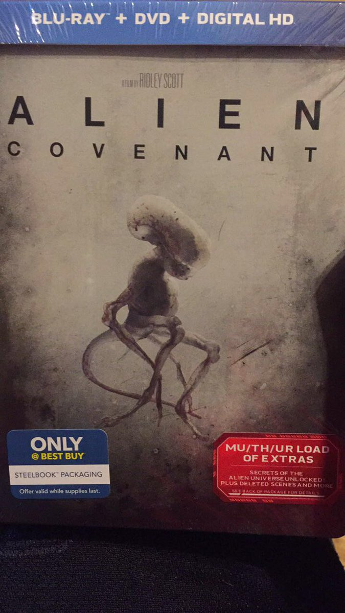Yes! I finally got it a day early!!! #AlienCovenant #Neomorph #Steelbook<br>http://pic.twitter.com/OyrALLE0fB