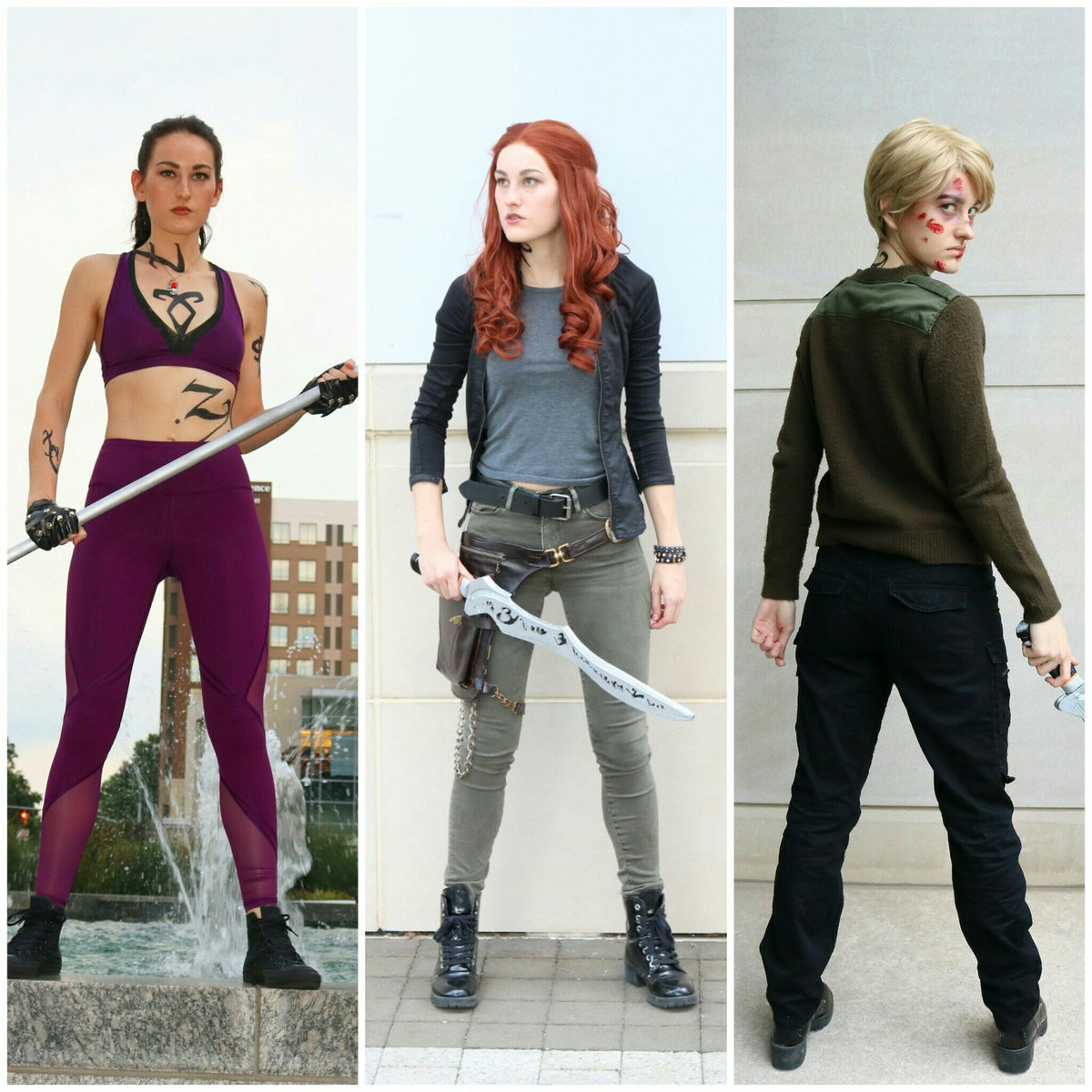 "Alyssa Sullivan on Twitter: ""Izzy, Clary & Jace. Updated Alec cosplay  coming soon! #shadowhunters #ShadowhuntersChat… """