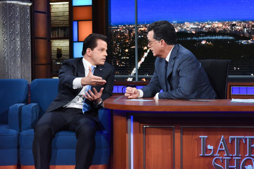 Went into the Lion's Den with @StephenAtHome came out w/ a few scratches but still standing. I appreciated the oppty.