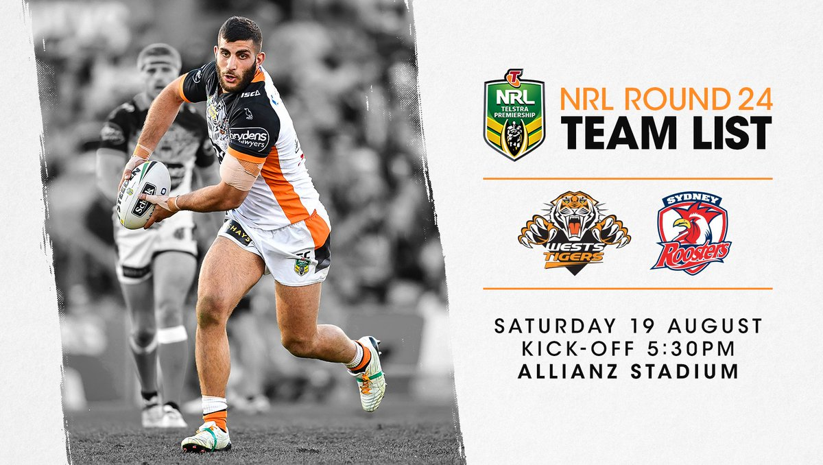 See our #NRL team named to take on the @sydneyroosters this Saturday!...