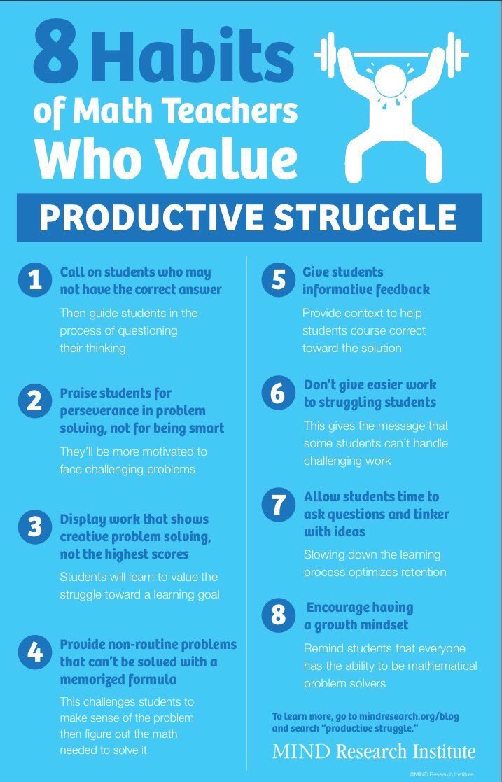 8 habits of teachers who value productive struggle (by @MIND_Research): #edtech #edchat<br>http://pic.twitter.com/zvOCLj3gPb