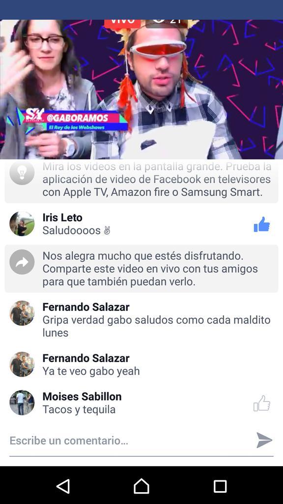 #onlinecongaboramos @GaboRamos @Mariapura ya te veo gabo como cada maldito lunes saludos desde Moreliapic.twitter.com/PahahgRGcC