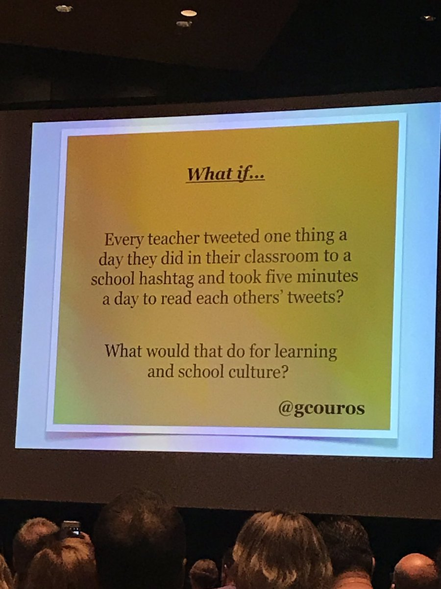 A3c: think about this as a start another gem from @gcouros #ISTE17  #edtechafterdark<br>http://pic.twitter.com/P36NOMiFvh